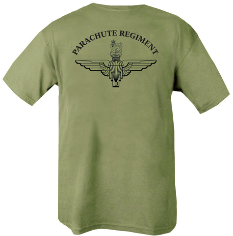 parachute regiment text with para wings beneath