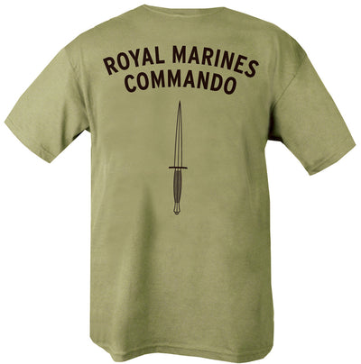 royal marines commando text with dagger beneath