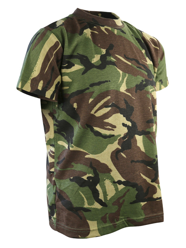 Kids Camo T-shirt-DPM DPM / 3-4 years Clothing Kombat UK - The Back Alley Army Store