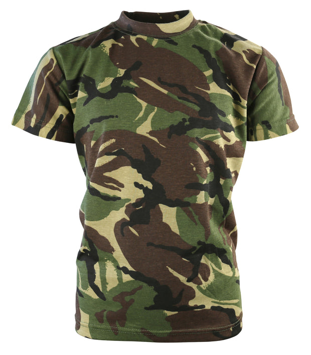 Kids Camo T-shirt-DPM  Clothing Kombat UK - The Back Alley Army Store