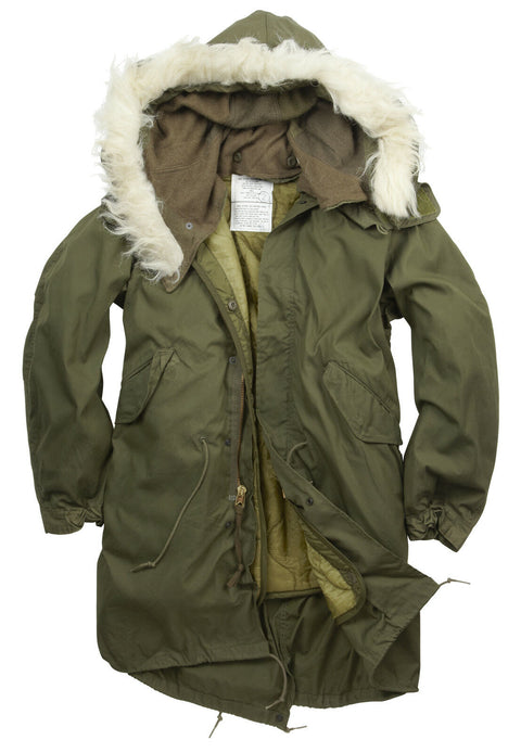 U.S Fishtail Parka-Original and un-issued  Clothing Sourced by Back Alley - The Back Alley Army Store