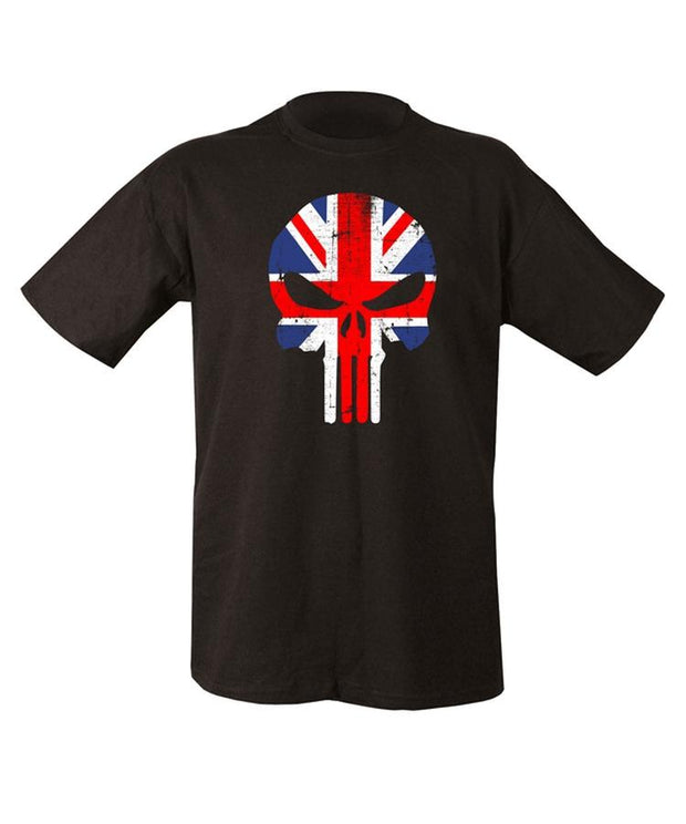 punisher skull uk flag t-shirt
