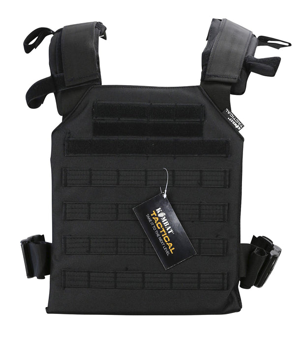 Spartan plate Carrier- Black tactical airsoft lightweight plate carrier
