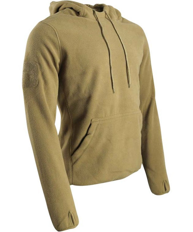 warrior fleece hoodie coyote brown