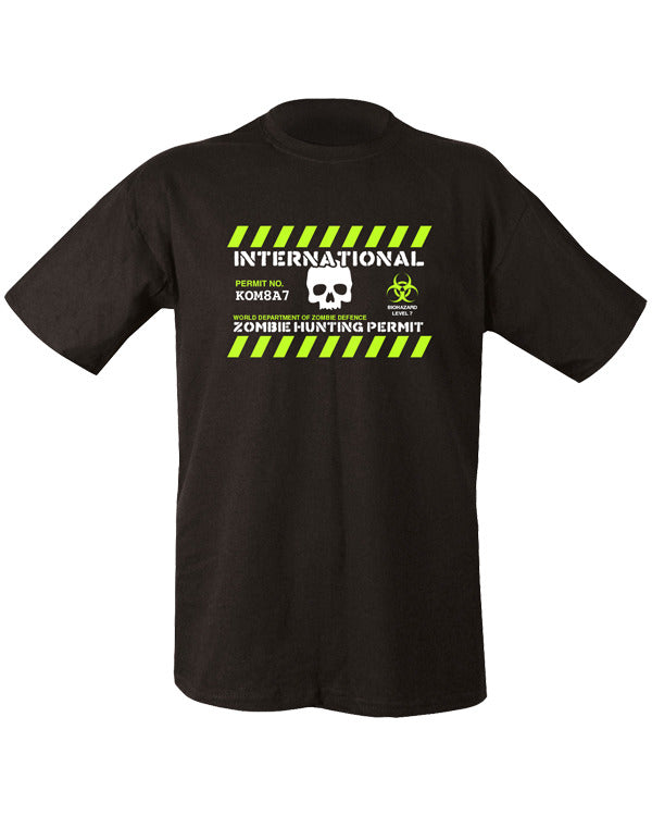 Zombie hunting permit t-shirt