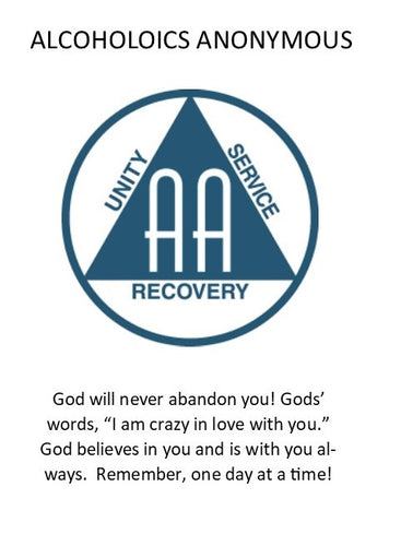Alcoholics Anonymous Prayer Card- PC10