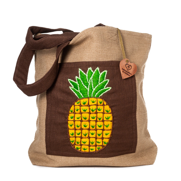 Pineapple Pocket Embroidered Bag