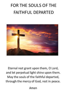 Prayer Card-PC19 - For Souls of the Faithful Departed