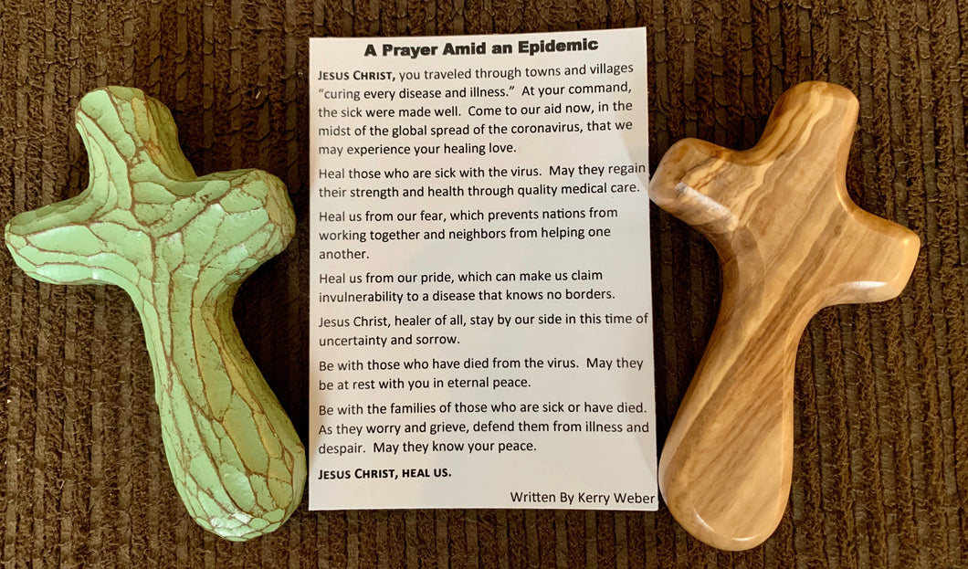 SPECIAL-Epidemic Holding Cross Gift Set with  prayer card by Kerry Weber