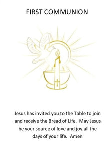 Prayer Card-PC4 - FIRST COMMUNION