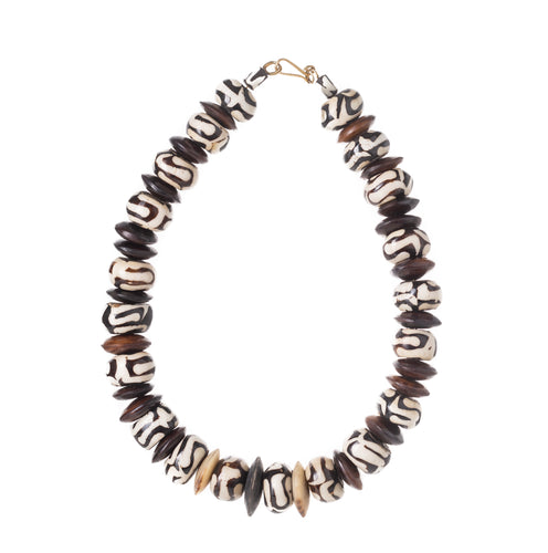 Kenya - Wood Bead & Bone Necklace