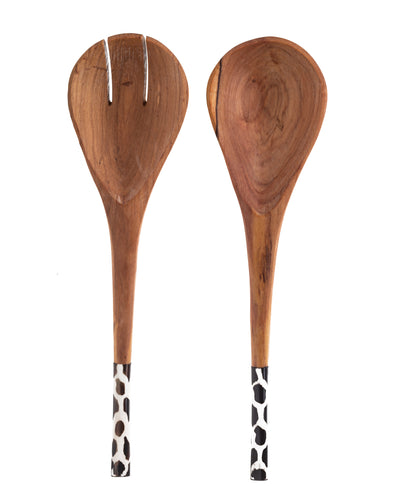 Kenya Bone and Wood Spoon Set