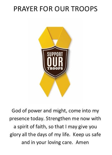 Bless Our Troops Prayer Card-PC8