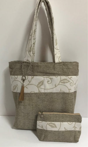 Tote bag - Tweed & Leaf Band Set