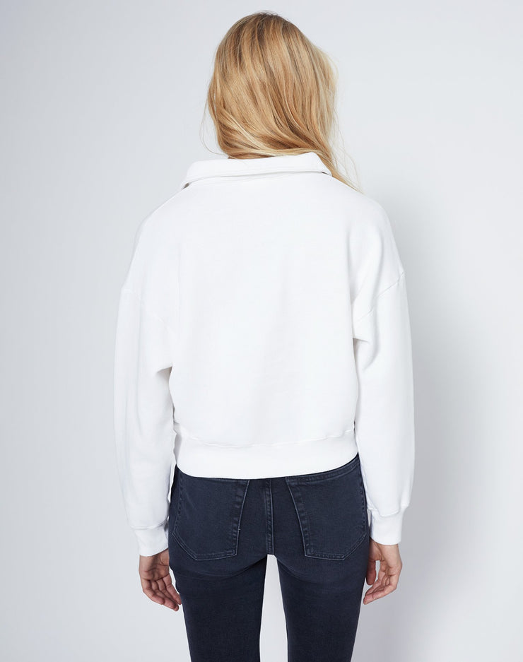 70s Half Zip Sweatshirt - Off White