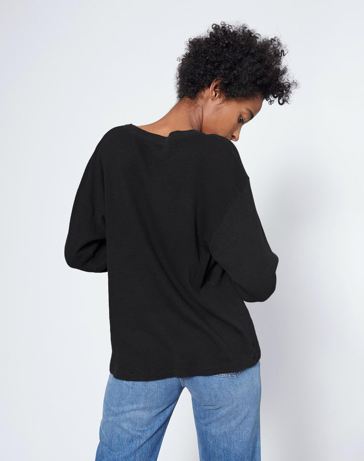 Thermal Long Sleeve Tee - Black
