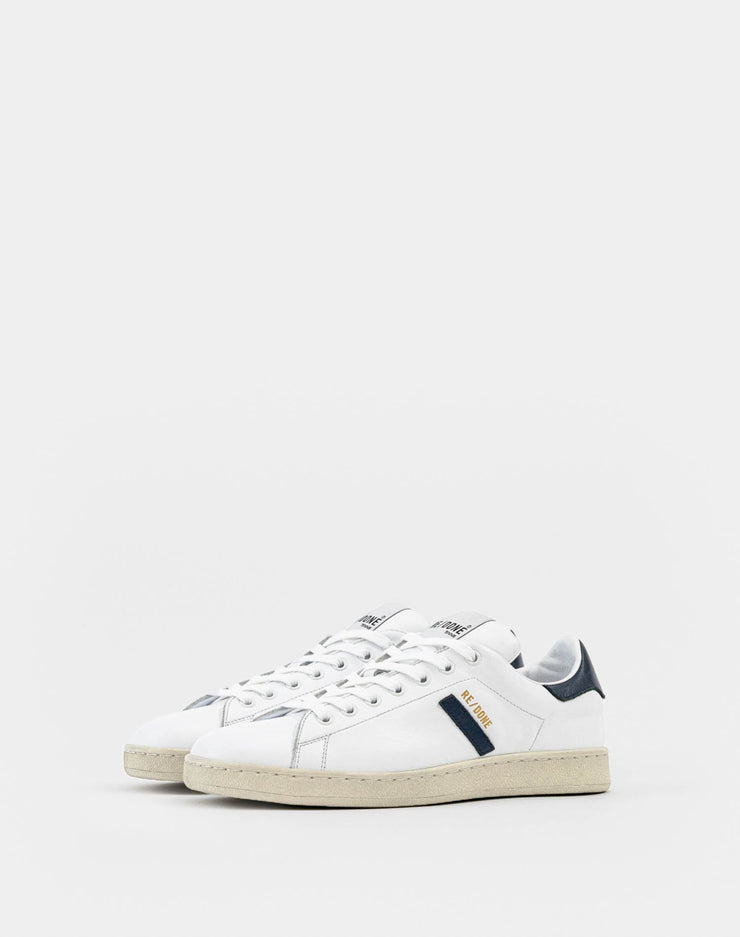 70s Tennis Shoe - White and Navy