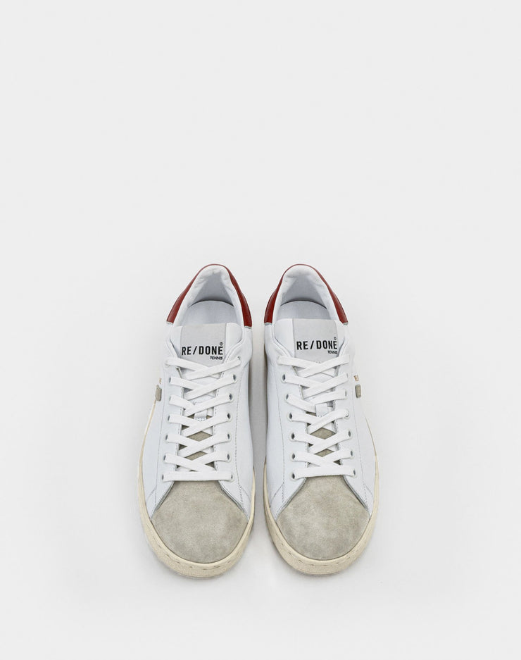 70s Tennis Shoe - White and Red