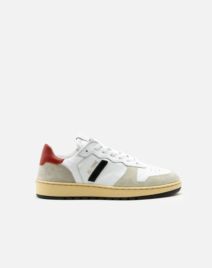 80s Basketball Shoe - White and Red
