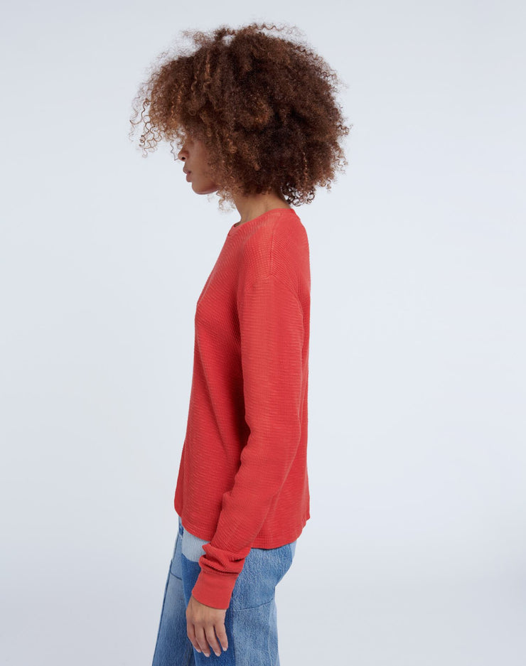 Thermal Long Sleeve Tee - Vintage Red