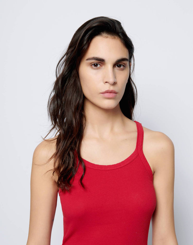 Ribbed Tank - Bold Red