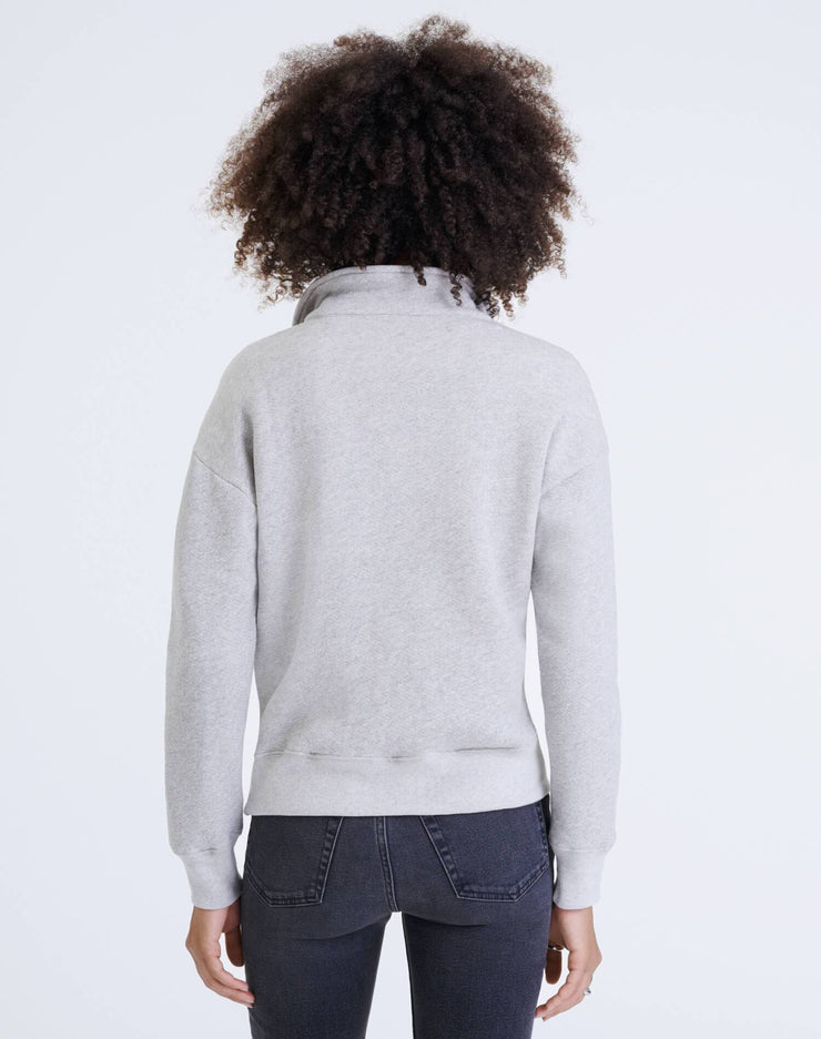 70s Half Zip Sweatshirt - Heather Grey