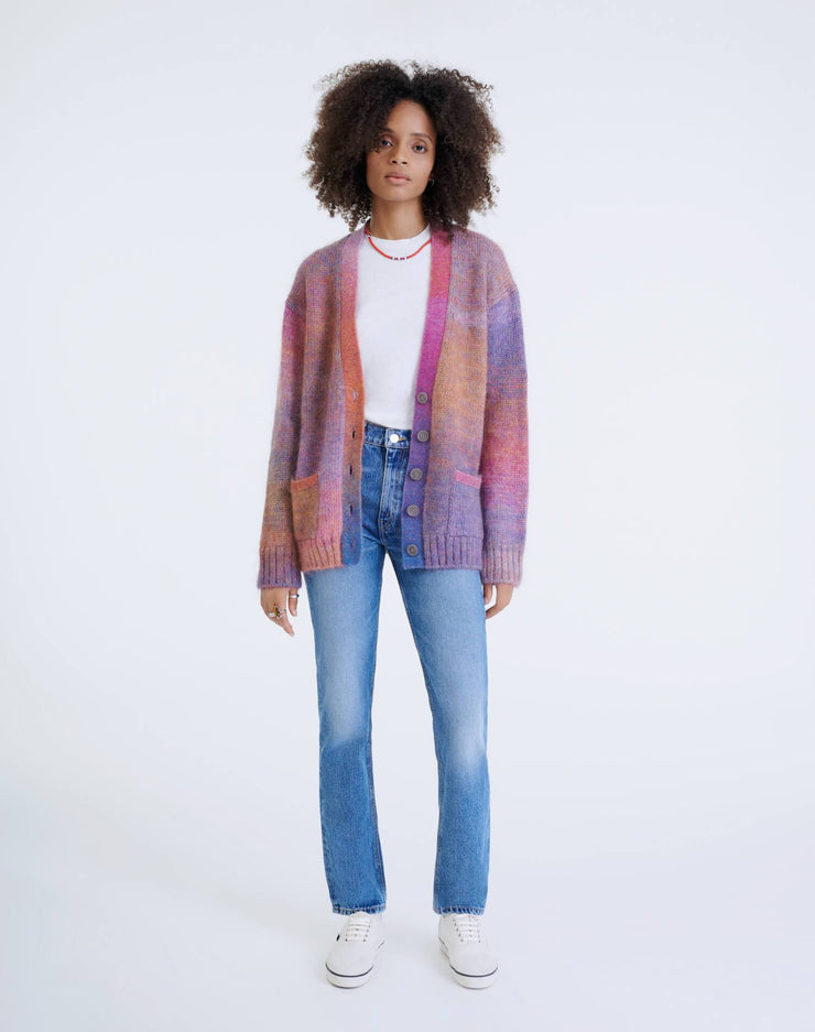 90s Oversized Cardigan - Space Dye