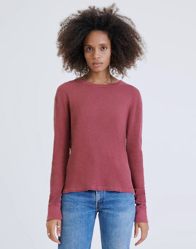 Thermal Long Sleeve Tee - Natural Berry