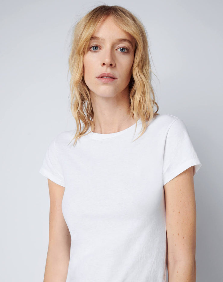Modern Cotton 1960s Slim Tee - Optic White