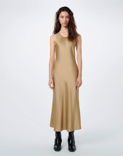 90s Slip On Dress - Khaki