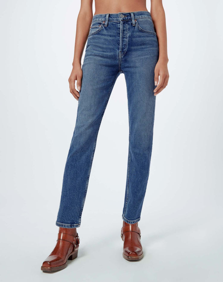 Comfort Stretch High Rise Ankle Crop - Mid 70s