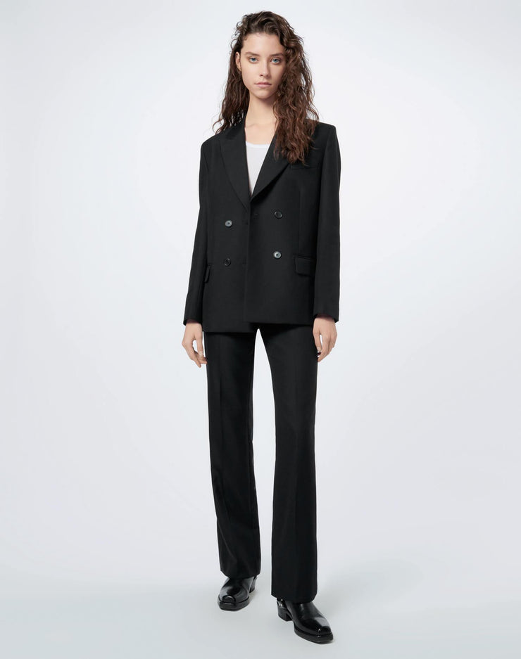 70s Double Breasted Blazer - Black