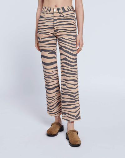 70s Loose Flare - Tiger Print