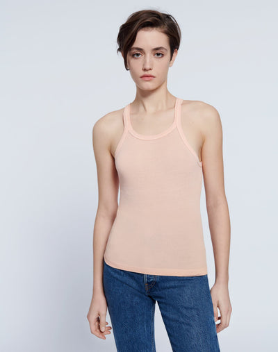 Ribbed Tank - Faded Sorbet
