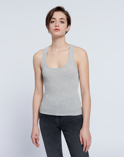 90s Tank - Heather Grey