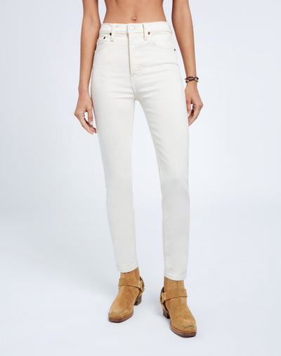 Comfort Stretch High Rise Ankle Crop - Vintage White