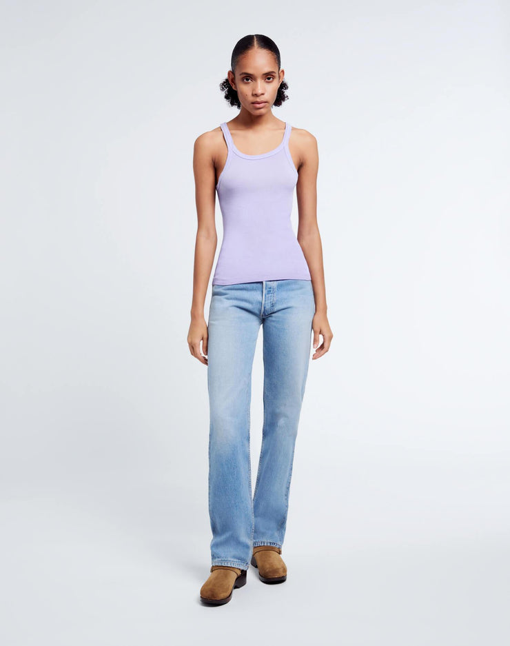 Ribbed Tank - Faded Orchid