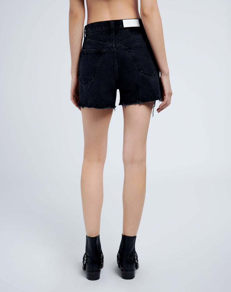 50s Cutoffs - Destroyed Shadow Black