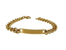 Load image into Gallery viewer, Gold Color Plated Stainless Steel Engravable | Cuban Link ID Bracelet | Large Adult Women Men