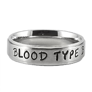 Custom Name Ring - Marked Edges on a Thin Band : Personalized your way!