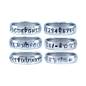 Custom Name Ring - Gold Colored Edges on a Wide Band : Personalized your way!