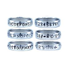 Load image into Gallery viewer, Custom Name Ring - Striped Finish on a Thin Band : Personalized your way!