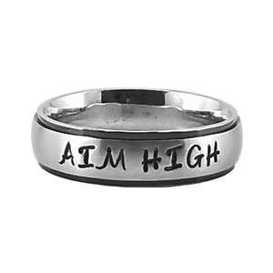 Custom Name Ring - Black Colored Edges on a thin band : PERSONALIZED your way!