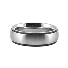 Load image into Gallery viewer, Custom Name Ring - Black Colored Edges on a thin band : PERSONALIZED your way!