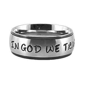 Custom Name Ring - Black Colored Edges on a Wide Band : PERSONALIZED your way!