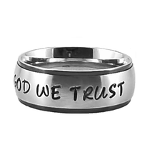 Load image into Gallery viewer, Custom Name Ring - Black Colored Edges on a Wide Band : PERSONALIZED your way!