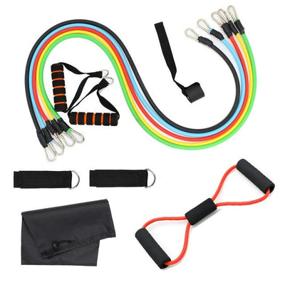 11 Pcs/Set Latex Resistance Cables Set with Free Bag