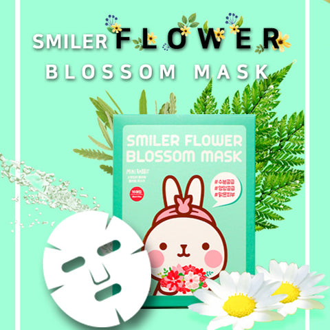 Mini Rabbit Smiler Flower Blossom Mask 10ea