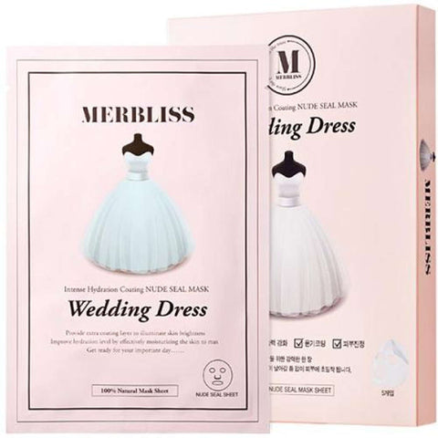 Merbliss Wedding Dress Intense Hydration Nude Seal Mask 5ea