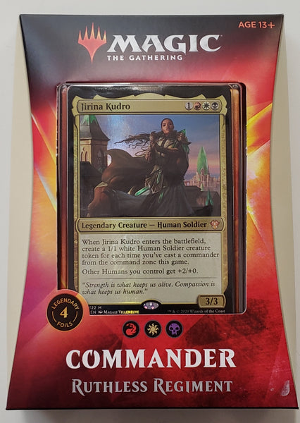 MRG TCG Commander deck Ruthless Regiment